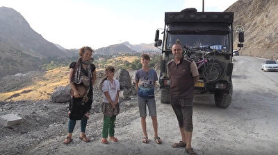 Dutch family travelling world in their truck/caravan arrives in Turkey after becoming trapped in Iran