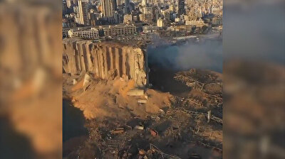 The day after: Drone footage shows aftermath of Beirut blast
