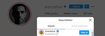 Eran Zahavi, Fenerbahçe'yi takibe aldı.
