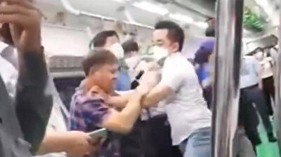 A man brutally attacked people Friday on the subway with his slippers after being urged to put on a mask in South Korea.