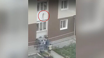 A desperate mother was forced to throw her two sons from a third-floor window to save their lives after the building became engulfed in flames in Russia. (Courtesy: DHA)