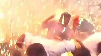 Happy birthday Modi! Hydrogen balloons explode at party for PM, injuring 12