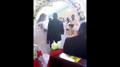 I object! Wife storms wedding as her husband tries to marry another woman