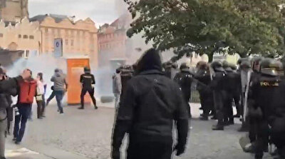 Police clash with hooligan protestors in Prague; 20 injured, 16 arrested