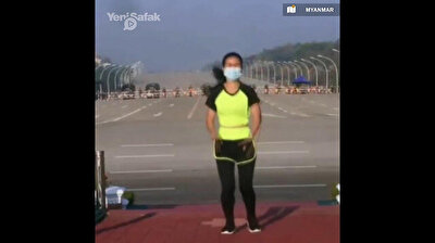 Black Mirror in Myanmar: First moments of coup allegedly captured by woman filming workout video