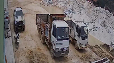 A female mining engineer accused her male boss of assault as she uploaded terrifying footage to social media that purported to show him chasing after her with a knife and trying to run the woman over with his car on Marmara Island in Turkey's western province of Balikesir.