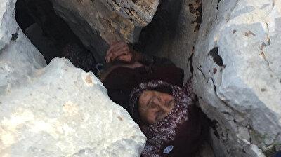 بعد اختفائها 3 أيام.. إنقاذ عجوز تركية مصابة بالزهايمر بعد العثور عليها بين الصخور!