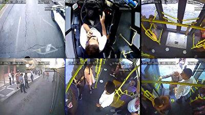 شاهد سائق حافلة بلدية تركية يقوم بدور سيارة الإسعاف لإنقاذ راكب ساءت حالته الصحية