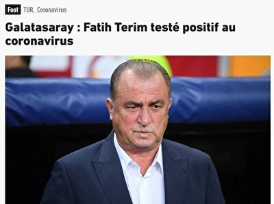 L'EQUIPE (FRANSA): Fatih Terim'in testi pozitif çıktı.