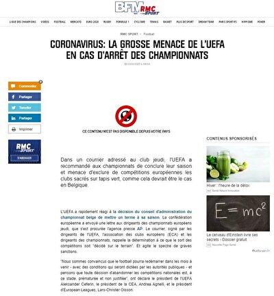 Fransız basınından RMC Sport'un aktardığı bilgilere göre Belçika Ligi'nde şampiyon ilan edilmesine kesin gözüyle bakılan Club Brugge bu sebeple Şampiyonlar Ligi'nde oynatılmayabilir.