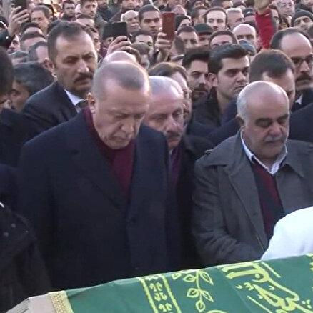 Erdoğan cenaze töreninde