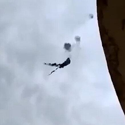Suriye helikopterinin vurulma anı