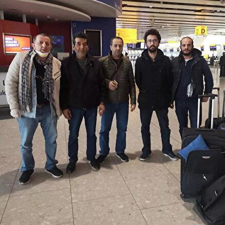 Beş Türk mahsur kaldı