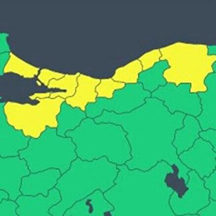 İstanbul ve 8 il için sarı kod