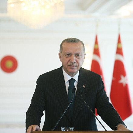 Cumhurbaşkanı Erdoğan Botan Çayı Beğendik Köprüsü açılış töreninde konuşuyor