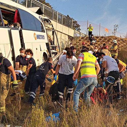 İstanbulda feci otobüs kazası