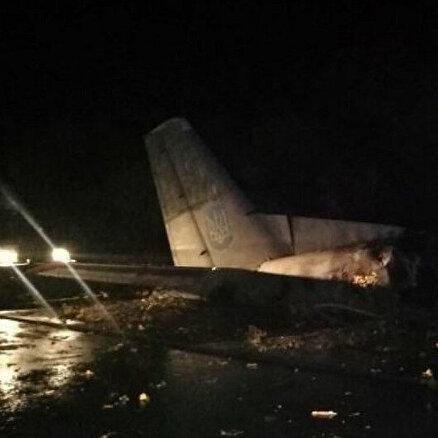 Ukraynada askeri uçak düştü