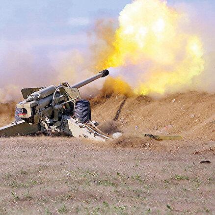 Ermeni savunma hattı imha edildi