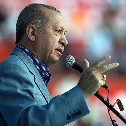 Cumhurbaşkanı Erdoğan Kayseride konuşuyor
