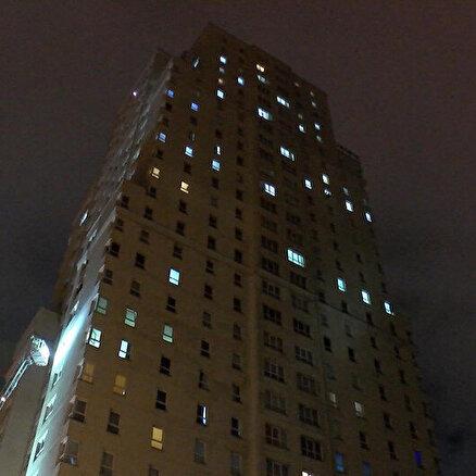 30 katlı binada yangın paniği