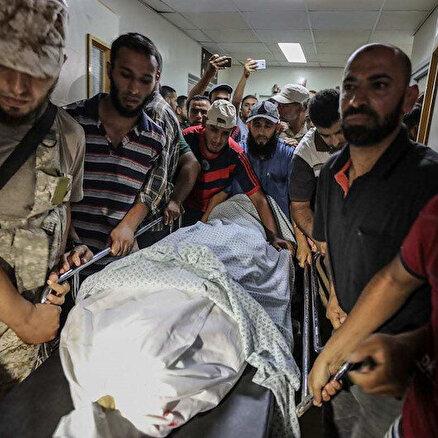 İsrail Gazzeye savaş uçaklarıyla saldırdı: Şehit sayısı 21e yükseldi