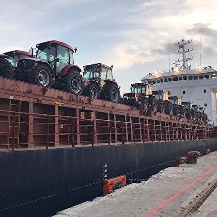 Traktörler Gine için yola çıktı