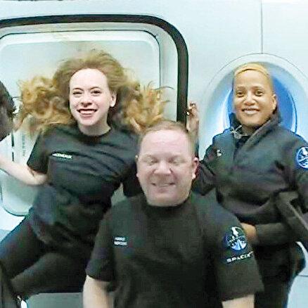 Uzay turistleri yörüngede