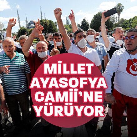 Danıştayın Ayasofya kararı sonrası vatandaşlar toplanmaya başlandı