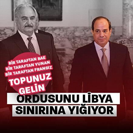 Darbeci Sisi Türkiyeye meydan okuyor: Haftere destek için Libya sınırında tatbikat başlattılar