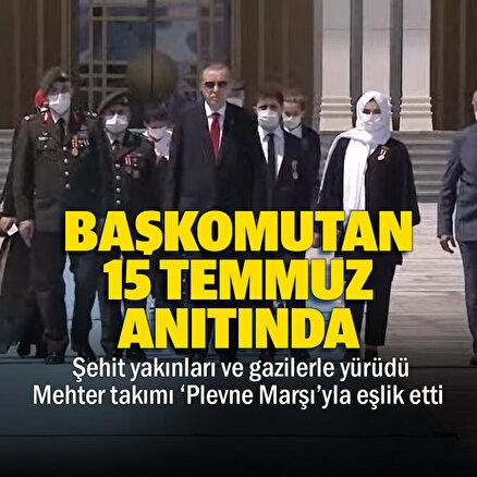 Cumhurbaşkanı Erdoğan 15 Temmuz Şehitler Anıtını ziyaret etti
