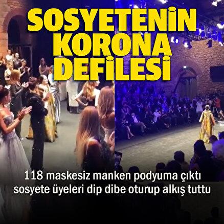 İstanbulda 118 maskeli mankenle düzenlenen defilede koronavirüse davetiye çıkarıldı