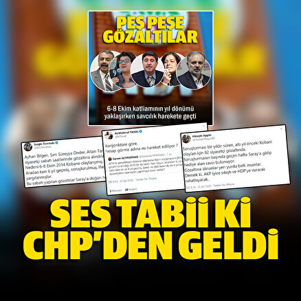 HDPdeki 6-8 Ekim gözaltılarına CHPden tepki