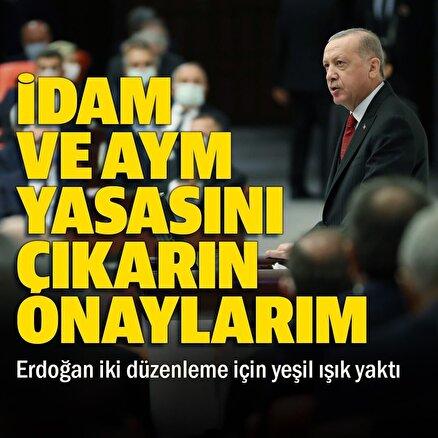 Cumhurbaşkanı Erdoğandan AYM yapısında değişiklik ve idam düzenlemesiyle ilgili onaylarım mesajı