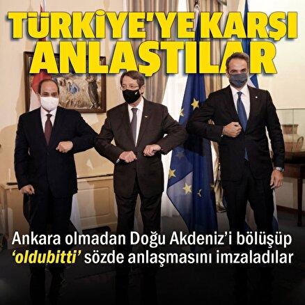 Lefkoşada Türkiye karşıtı zirve: Yunanistan GKRY ve Mısır iş birliği için anlaştılar