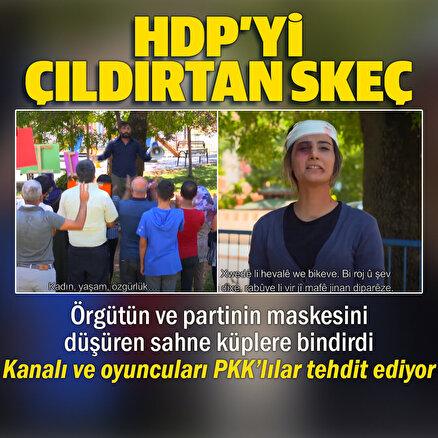 PKK yandaşları ve HDPden skeç yayınlayan TRT Kürdiye tehdit