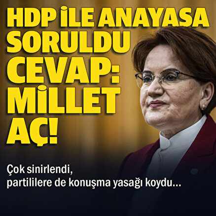 Meral Akşenerden HDP ile ortak anayasa sorusuna cevap: Millet aç