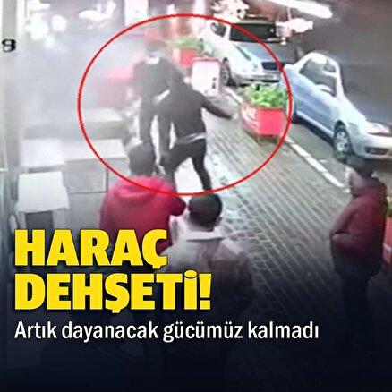 İzmirdeki haraç dehşeti kamerada