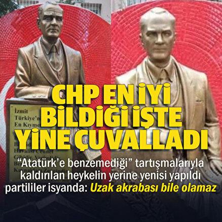 İzmitte Atatürke benzemediği için yenisi yapılan heykel krize neden oldu
