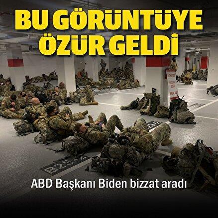 Otoparkta uyumak zorunda kalan ABDli askerlere Bidendan özür