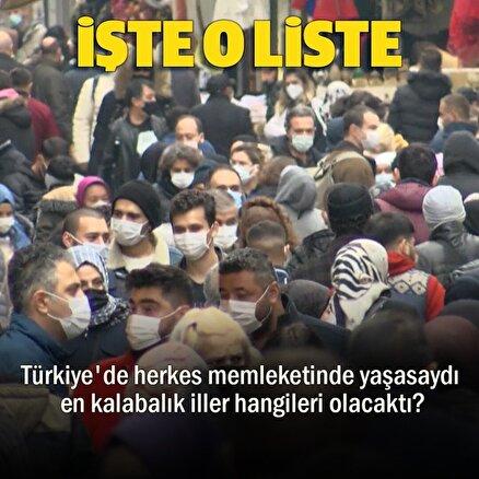Türkiye'de herkes memleketinde yaşasaydı nüfus dağılımı nasıl olacaktı?