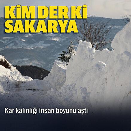 Burası Van değil Akyazı: Kar kalınlığı 2 metre