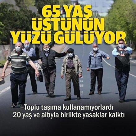 İstanbulda 65 yaş üstü ile 20 yaş altına uygulanan toplu taşıma kısıtlaması kaldırıldı