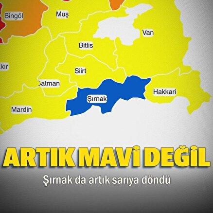 Türkiyenin en çok mavi kalan kentiydi sarıya geçti