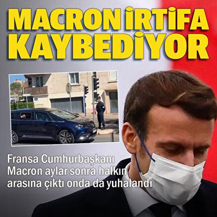 Fransa Cumhurbaşkanı Macron halk tarafından yuhalandı