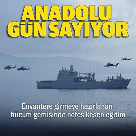 MSB paylaştı: Türkiye'nin İlk Amfibi Hücum Gemisi Anadoluda nefes kesen eğitim