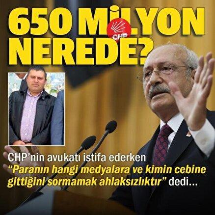 CHPden istifa eden avukat Mustafa Çiçek Kılıçdaroğluna milyonlarca liranın hesabını sordu: Sorumsuzca harcanan 650 milyon nerede?