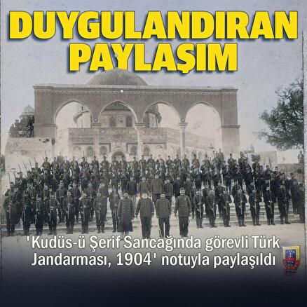 Türk Jandarmasından Kudüs paylaşımı