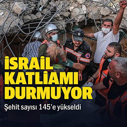 Filistinde şehit sayısı 145e yükseldi