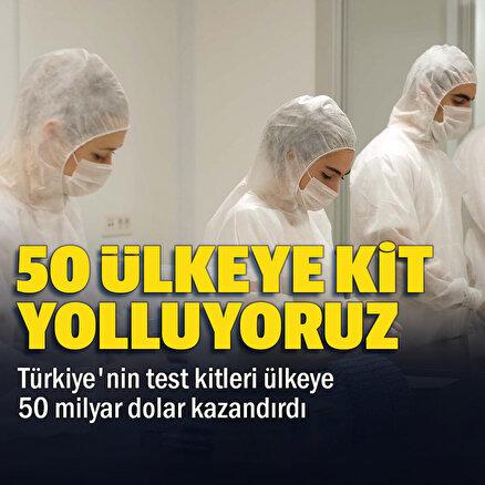Türkiyenin 50 ülkeye ihraç edilen test kitleri ülkeye 50 milyon dolar kazandırdı: 80 milyonluk yeni bir merkez kuruldu