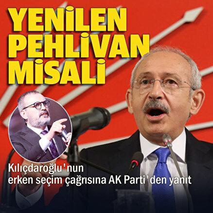 AK Parti Grup Başkanvekili Mahir Ünaldan erken seçim çağrısına cevap: Yenilen pehlivan güreşe doymaz